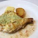 レストラン エピファニー - メイン:若鶏のもも肉の香草風味焼き