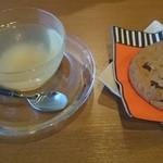 cafe かわのほとり - ゆず茶&ソフトクッキー