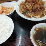 胆沢 - 料理写真:朝鮮焼き定食1050円