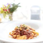 レストランミケイラ - パスタ オリーブ牛のボロネーゼ