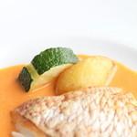 レストランミケイラ - 真鯛のソテー アメリカンソースの付け合せ