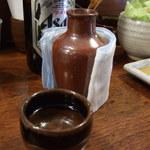 串かつ料理 活 - 燗酒 熱々です♬