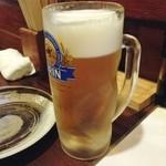 居酒屋 ゆた - 生ビール(500円)
