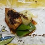 レストランよねむら - 海老芋と下仁田ネギの包み焼