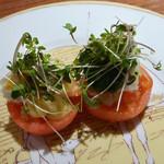レストランよねむら - 海老と帆立のトマトファルシー