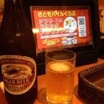 34668781 - 注文はタッチパネルから行います。ビンビール中(キリンラガー)(561円)。