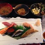 蛇の目鮨 - ランチ時 : 上寿司定食\1290yen