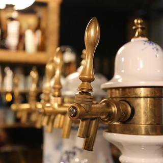 ビールの種類はピカイチ♪リブとお酒の相性は抜群!