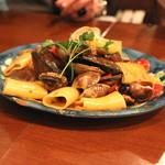 トラットリア・築地パラディーゾ - 本日の貝類とチェリートマトのパッケリ (2015/01)