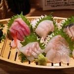 魚猫 大山店 - 刺身5点盛り