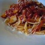 スクラッチ - きのこのトマトソーススパゲティ