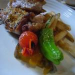 スクラッチ - 鶏腿肉のパン粉焼(温野菜)