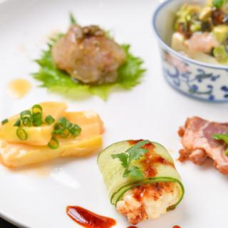 庄内の旬の食材を使った季節感溢れる台湾料理