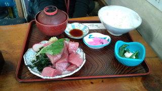 上総屋 - マグロブツ定食(600円)