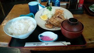 上総屋 - まぐろ生姜焼き定食(600円)