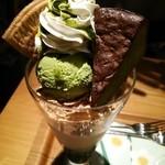 34684711 - 抹茶ガトーショコラパフェ。1000円。