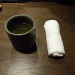 寿司の磯松 - お茶、おしぼり