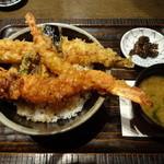 寿司の磯松 - 海老と穴子の天丼:1,200円