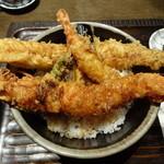 寿司の磯松 - 海老と穴子の天丼