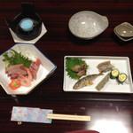 竹馬 - 料理写真:八寸とお造り