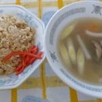 とくみ - チャーハン+野菜スープ(2015年1月31日)