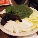小肥羊 - 野菜盛り合わせ