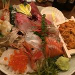 北の味紀行と地酒 北海道 - 刺し盛り
