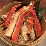 北の味紀行と地酒 北海道 - 茹でタラバ蟹