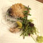 北の味紀行と地酒 北海道 - アワビの刺身