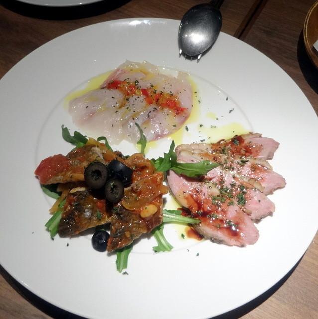 チェイスコ - 前菜3品盛り合わせ(鯛・サンマ・鴨)1,200円+税