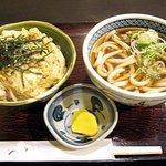 手打ちそば 菊園 - 菊園 ミニ親子丼+ミニうどんセット