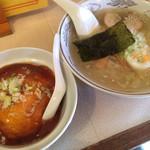萬福亭 - 半カニ玉丼と塩ラーメンのセット