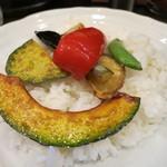 100時間カレー B&R - ご飯(野菜トッピング)