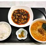 樓蘭香廚 - 「めん定食(四川麻婆豆腐+ハーフ担々麺)」(2015.01)