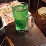 34704669 - ムタヒロサワー緑350円(かき氷シロップのサワー)