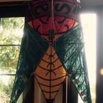 珈琲専門店 原点 - 正月明けということで店内はご主人作の凧で溢れていました