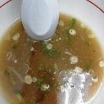 中華そば めんいち - 完食 塩分ちょうど良く完汁は当然だ