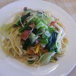 34707081 - スパゲッティランチ(野菜いっぱい田舎風)