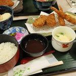 お好み食堂 蘭 - エビヒレ定食