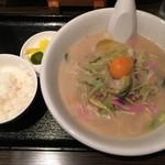 笑心 - ■白ちゃんぽん定食840円 *ご飯付