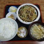 食堂ふじむら - レバニラ定食