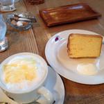 caffe  dolce - ケーキセットのシフォンケーキ