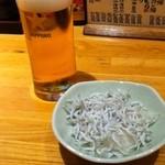 ごじゃまる - ビール小300円