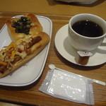 ヴィ・ド・フランス デリ&ルー - 2015/2  豆まき パン、スパイシーチキンスティック、サイフォンブレンドコーヒー