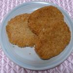 サトウ精肉店 - 料理写真:購入したコロッケとハムカツ
