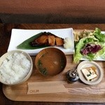 チャムアパートメント - 鰤照り焼きランチ(ドリンク付き1,100円)