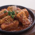益正食堂 - 鶏の赤辛味噌焼き