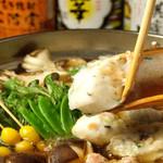 串焼き・魚 新宿宮川 - 人気の大山鶏のつくね鍋♪