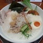暁 製麺 - 鶏豚だしらぁ麺(H27.2.1)