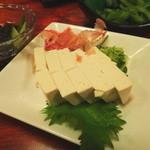 招福 - 島豆腐の冷奴ともずく